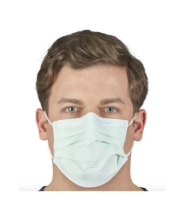 Yellow Earloop Procedure Mask with Visor KIM47119