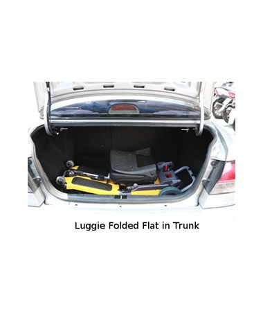 Luggie Portable Scooter - Folded Flat in Trunk