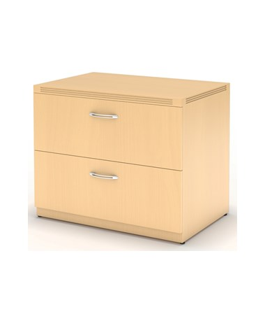 MAYAFLF36 - Aberdeen® Laminate Series Freestanding Lateral File with 2 Drawers - Maple Laminate Color