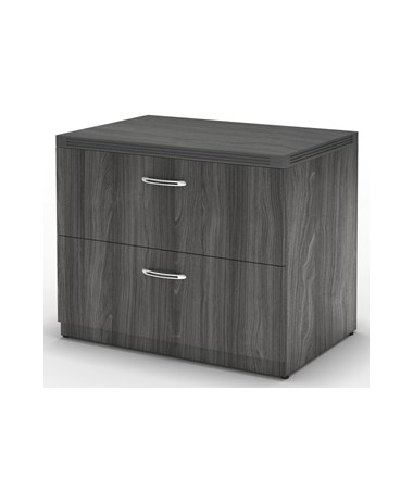 MAYAFLF36 - Aberdeen® Laminate Series Freestanding Lateral File with 2 Drawers - Gray Steel Laminate Color