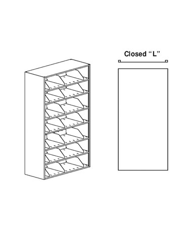 "MAYEFL2412433S- 4-Post Filing Unit - ""L"" uprights"