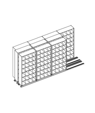 MAYEFPL367433- 4-Post Kwik-Track TriSlider Filing 10 Units - 4/3/3 - Scatch