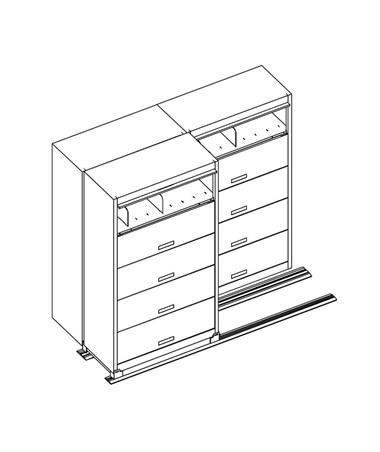 MAYFF521- Flip-n-File™ Cabinets on Kwik-Track - Bi-Slider, 3 Units - 2/1 - Scatch