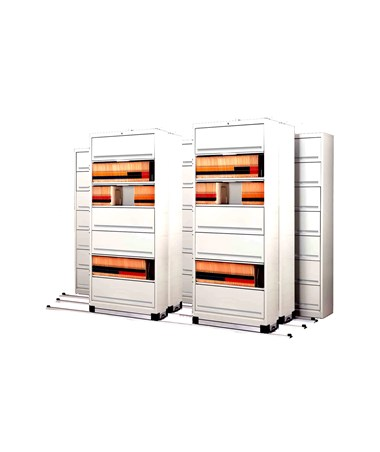 Flip-n-File™ Cabinets on Kwik-Track - Tri-Slider, 7 Units - 3/2/2 MAYFF5322-
