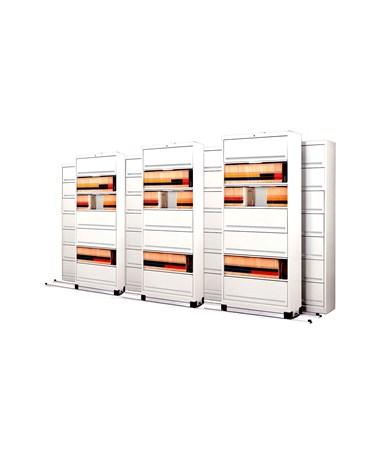 Flip-n-File™ Cabinets on Kwik-Track - Bi-Slider, 7 Units - 4/3 MAYFF543-
