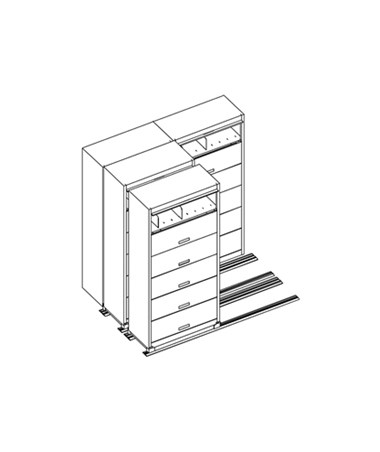 MAYFH36211- Kwik-Track Horizontal Tambour Door 7 Tier TriSlider Filing System - 2/1/1 - Scatch