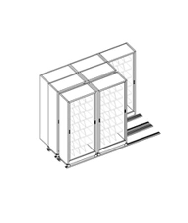 MAYFH36322- Kwik-Track Horizontal Tambour Door 7 Tier TriSlider Filing System - 3/2/2 - Scatch