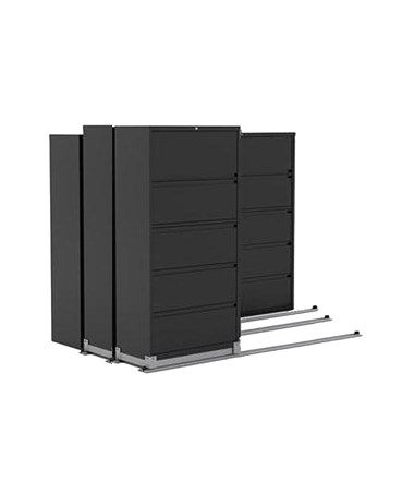 Lateral Files on Kwik-Track - 5 Drawers, Tri-Slider, 7 Units - 2/1/1 MAYLATH365211-