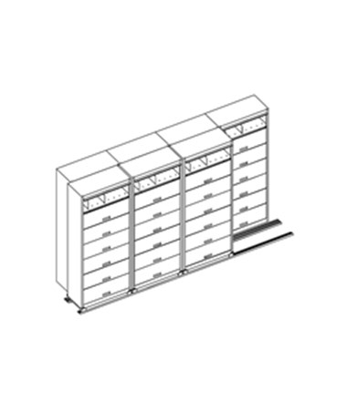 MAYLATH36543- Lateral Files on Kwik-Track - 5 Drawer System, 4/3 - Scatch