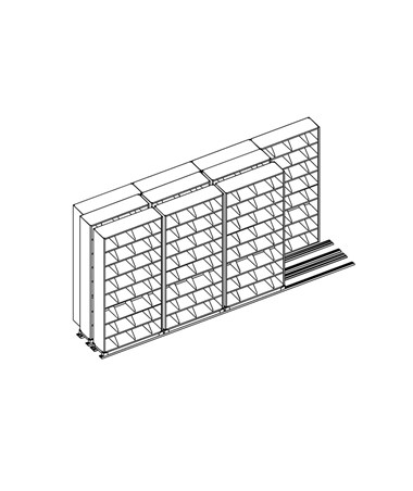 MAYLATH365433-Lateral Files on Kwik-Track - 5 Drawer System, 4/3/3 -  Scatch