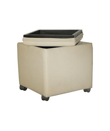 MAYVCCS - Santa Cruz® Series Mobile Storage Ottoman - Removable lid