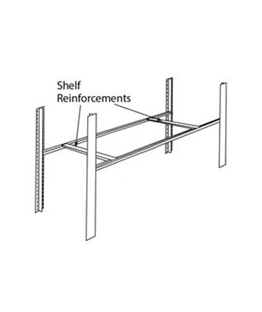 4-Post Heavy Duty Shelf Reinforcements MAYX18SRB-