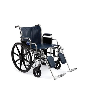 "Excel Extra-Wide 24"" Heavy Duty Wheelchair MEDMDS8069--"