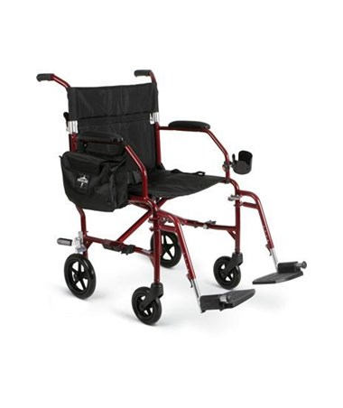 Medline MDS808200F2B Excel Freedom 2 Transport Chair