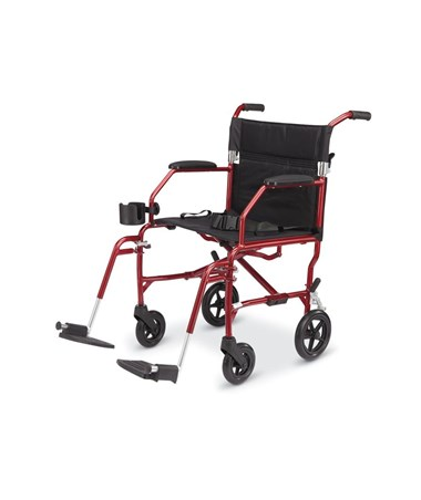 Excel Freedom Transport Chair in Red
