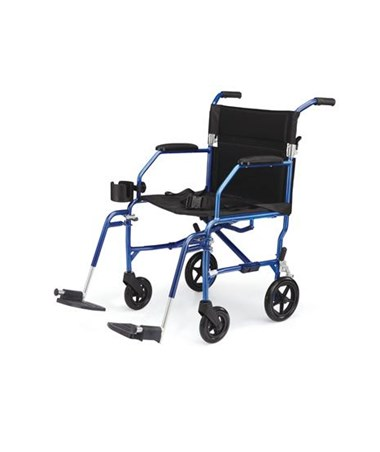 Medline Excel Freedom Transport Chair in Blue