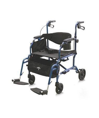 Medline MDS808200TR Excel Translator Transport Chair-Rollator