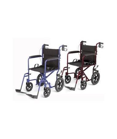 Medline MDS808210ABE Excel Deluxe Basic Aluminum Transport Chair