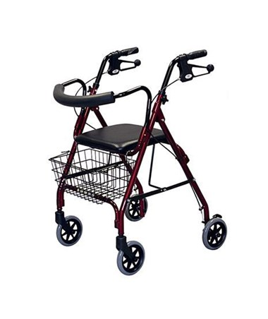 Medline MDS86810 Curved Back Deluxe Rollator