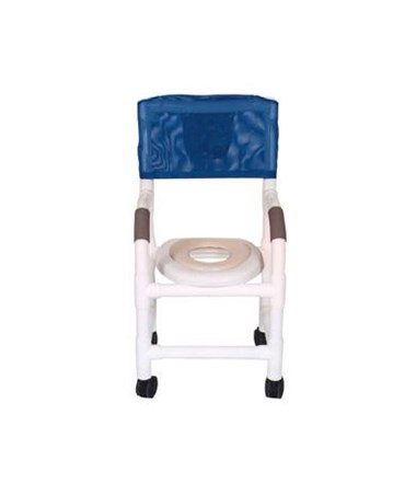 MJM 115-3TW-RH Pediatric Shower Commode with Soft Seat
