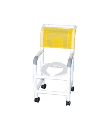 MJM118-3-DDA Commode Shower Chair with Double Drop Arm
