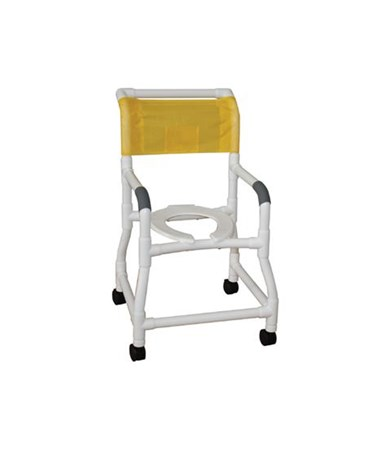 MJM118-3-FS Commode Shower Chair with Flared Stability