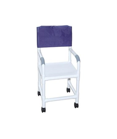 MJM118-3-H-F High Backed Shower Chair with Flatstock Seat