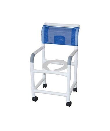 MJM118-3-IF Commode Shower Chair with Individual Footrest