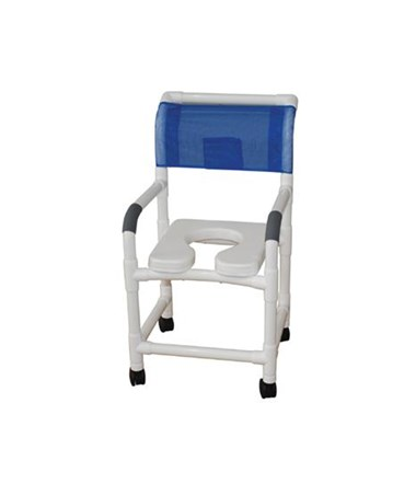 Soft Seat Shower Commode with Commode Pail MJM118-3-SSDE-10-QT-C