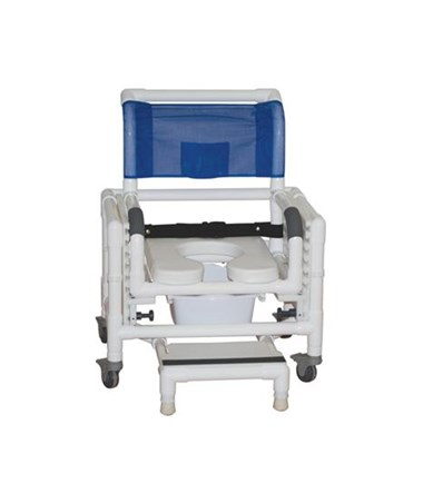 MJM118-3-TL-SFS-SQ-PAIL-SSDE-SADJ-BB-18 RIO Multi Purpose Commode Shower Chair