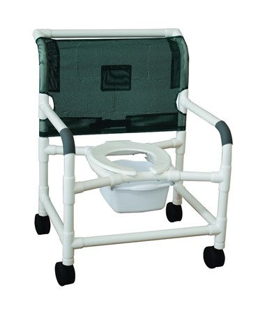 "MJM126-4-NB-NC 26"" Wide Shower Commode Chair"