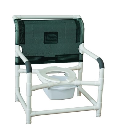 "26"" Wide Stationary Commode Shower Chair MJM126-LP-NB"
