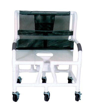 "MJM 130-5-DDA 30"" Bariatric Shower Chair with Double Drop Arms and Full Support Seat"