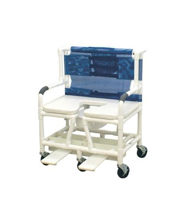 MJM 131-5-SSDE Bariatric Shower Commode with Soft Seat