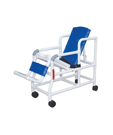 MJM 193-TIS-PED Pediatric Tilt'n'Space Shower Commode with Soft Seat and Double Drop Arms