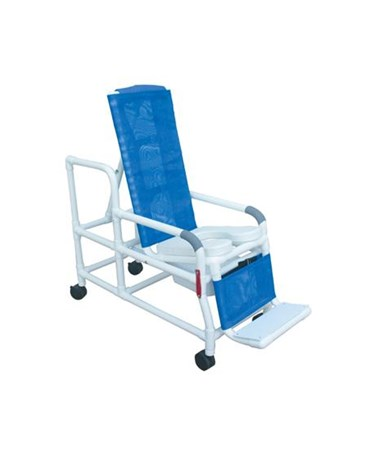 MJM 193-TIS Tilt'n'Space Shower Commode with Soft Seat and Double Drop Arms