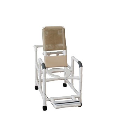 MJM 195-DDA Reclining Shower Chair with Folding Footrest and Drop Down Arms