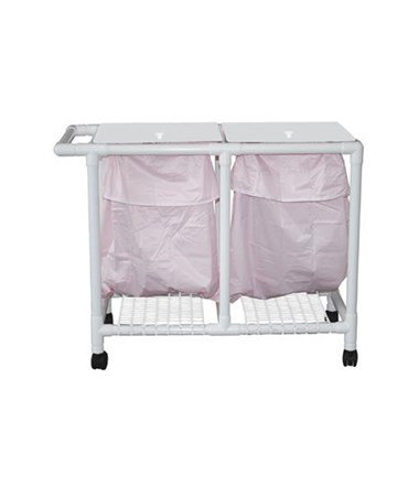 MJM 214-D-LP-FP Double Hamper with Leak-Proof Bag and Footpedal