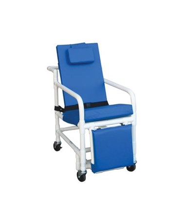 Reclining Geri Chair with Elevated Leg  Rest and Drop Down Arms