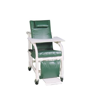 MJM 524-SL-MRI Non-Magnetic Extra Wide Reclining Geri Chair with Elevated Leg  and Footrest