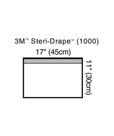 """Small Towel Drape, 17"""" x 11"""", Adhesive Strip & Clear Plastic COV1000"""
