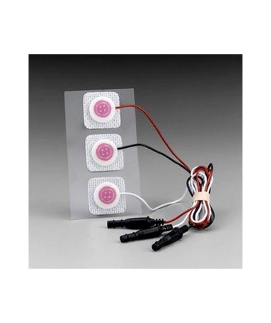 3M™ Red Dot™ Pre-Wired Radiolucent Neonatal Monitoring Electrodes, Case MMM2282-