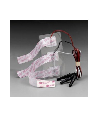 Red Dot™ Radiolucent Pre-Wired Neonatal Limb Band Monitoring Electrodes, Case MMM2284