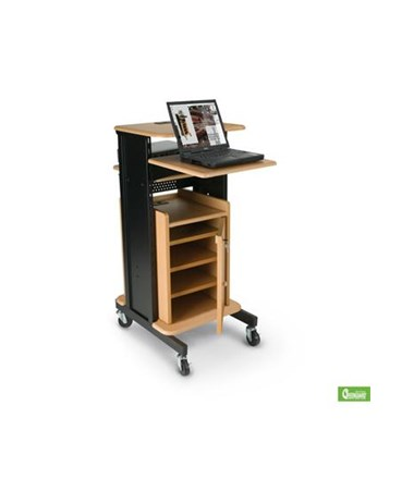 Presentation Cart with Locking Cabinet.
