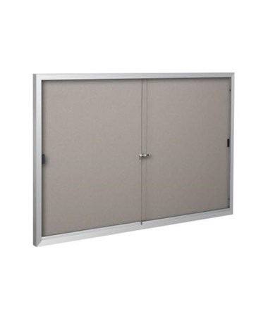 Deluxe Bulletin Board with Sliding Doors MOO95SAC
