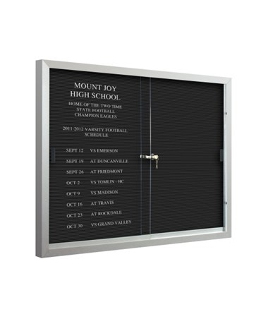 Directory Board with Letters.