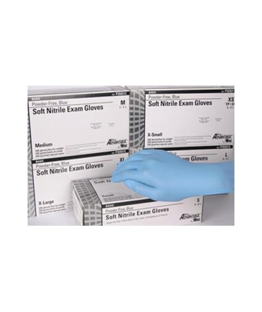 Pro Advantage Basic Nitrile Exam Gloves Powder-free-blue - Small