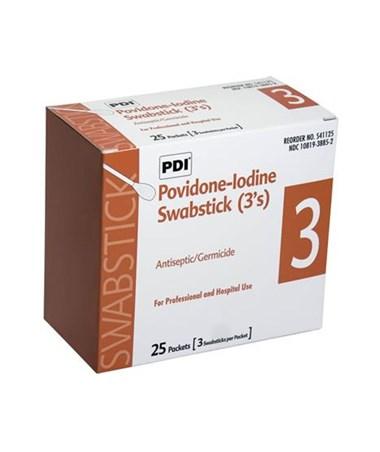 Povidone-Iodine Prep Swabsticks PDIS41125-