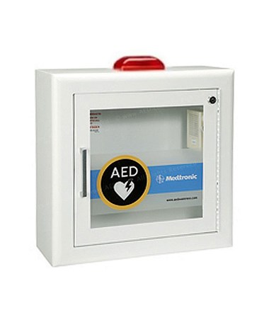 PHY11220-000079- AED Surface-Mount Cabinet - Cabinet with Alarm & Strobe