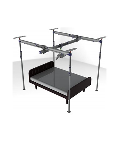 Pressure Fit 4-Post Free Standing Track System PRS341510